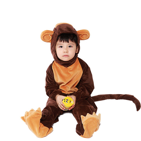 Kids Monkey Animal Cosplay Costume Halloween Cosplay Onesis