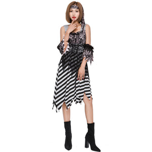 Lace Sexy Striped Suspender Dress Pirate Costume Halloween/Stage Performance/Party