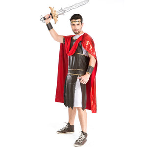 Men Roman Warrior Gladiator Warrior 300 Cosplay Costume For Halloween Party Performance