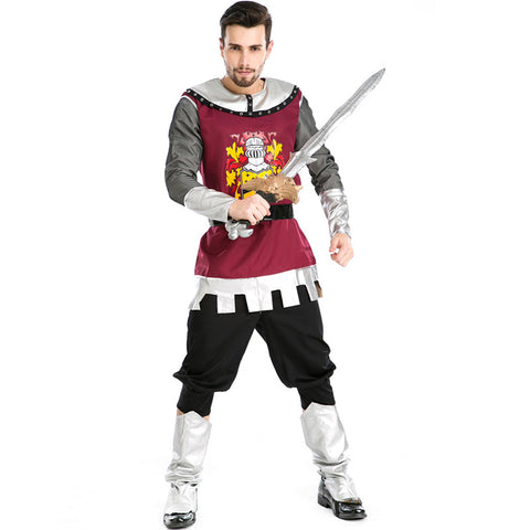 Men Roman Warrior Gladiator Warrior Cosplay Costume For Halloween Party Performance