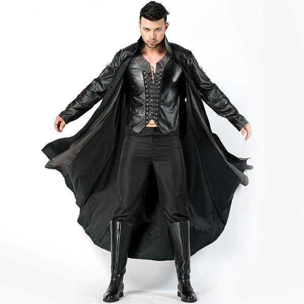 Men Vampire  Gothic  Cosplay Costume Dress For Halloween Party Performance