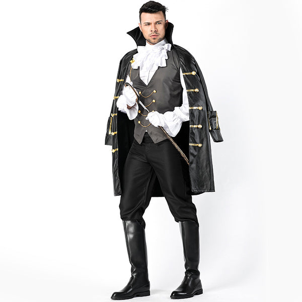 Men's Deluxe Pirate Cloak Cosplay Costume Halloween/Stage Performance/Party