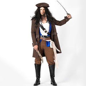 Men's Deluxe Pirate Cosplay Costume Halloween/Stage Performance/Party