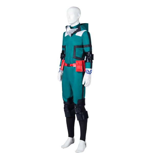 Male My Hero Academia Midoriya Izuku Deku Fighting Suit Cosplay Costume With Shoes