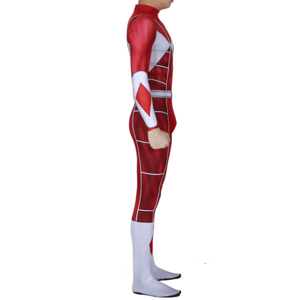 Mighty Morphin Power Rangers Red Ranger Cosplay Costume Zentai