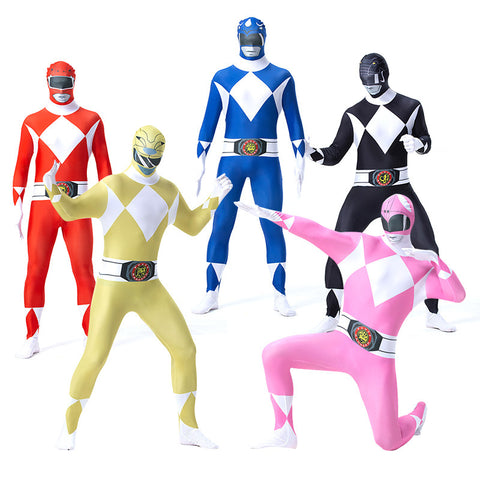 Mighty Morphin Power Rangers  Cosplay Costume Zentai