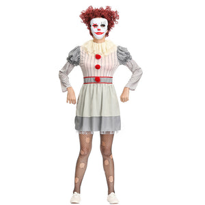 Movie It Pennywis Women Halloween Cosplay Costume Full Set