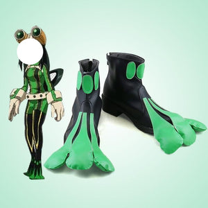 My Hero Academia Froppy Tsuyu Asui Cosplay Shoes