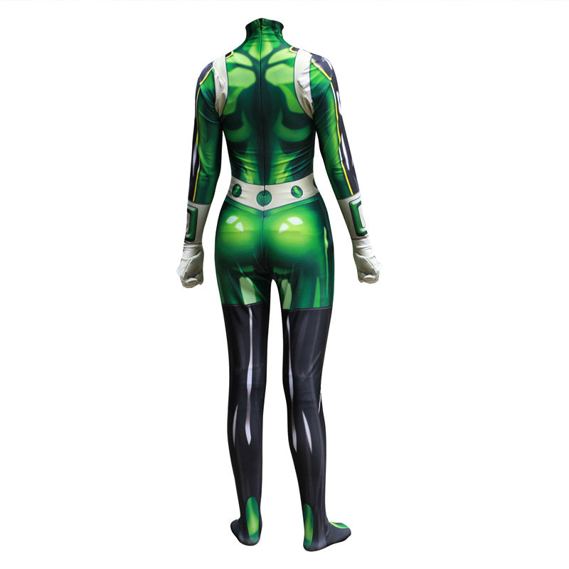Kids Adults My Hero Academia Froppy Tsuyu Asui Fighting Suit Cosplay Costume