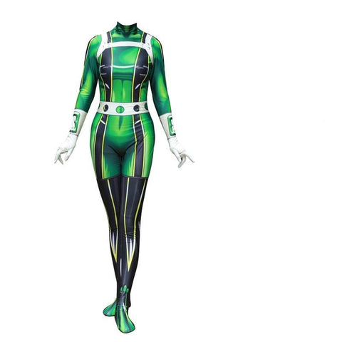 My Hero Academia Froppy Tsuyu Asui Fighting Suit Cosplay Costume