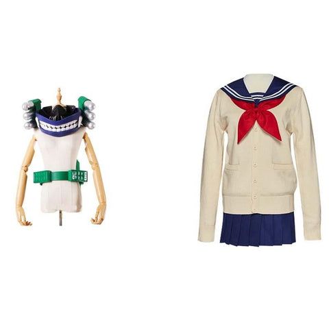 My Hero Academia League of Villains Himiko Toga Cosplay Costume Full Set With Props
