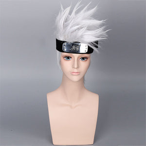 Naruto Hatake Kakashi Cosplay Wigs With Headbend