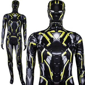 Neon Tech Iron Man 2.0 Cosplay Costume Jumpsuit For Adults and Kids