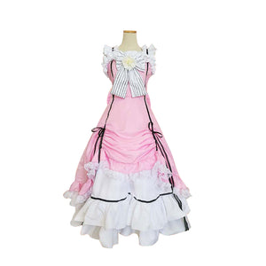 Black Butler Ciel Phantomhive Female Pink Cosplay Costume Dress