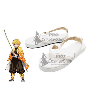 Anime Demon Slayer / Kimetsu no Yaiba Zenitsu Agatsuma  Cosplay Shoes