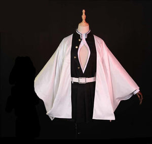 Anime Demon Slayer/Kimetsu No Yaiba Kanroji Mitsuri Cosplay Costume Deluxe Version