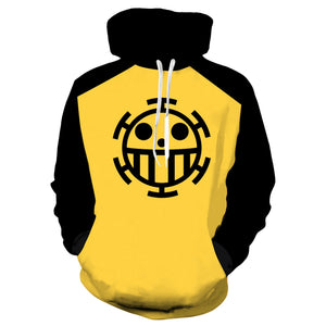 One Piece Trafalgar Law Hoodies Pullover Cosplay Costume Long Sleeve  Sweatshirt Unisex