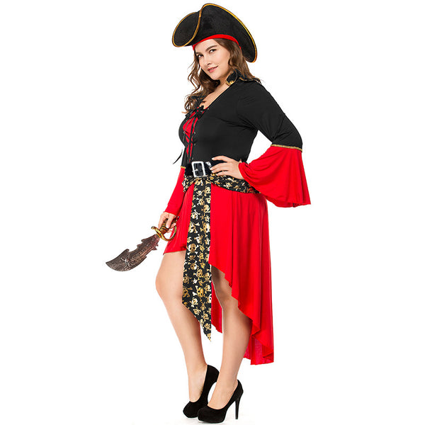 Plus Size Adult Female Skeleton Pirate Cosplay Costume Halloween/Stage Performance/Party