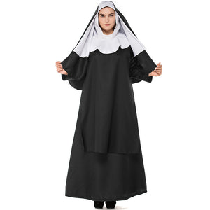 Plus Size Deluxe Nun Costume For Halloween/Stage Performance/Party