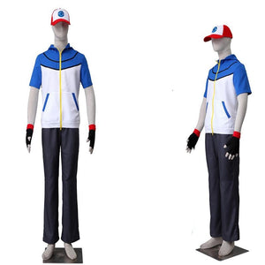 Pokémon Best Wishes Pokemon Pocket Monster Ash Ketchum Cosplay Costume