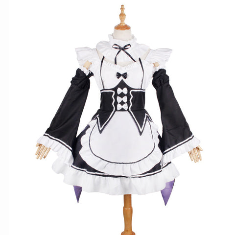 Re:Zero Starting Life in Another World RAM REM Cosplay Costume Maid Dress