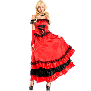 Red Long Magician Cosplay Costume Dress