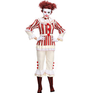 Red Women Clown  Cosplay Costume Suit For Halloween Party Performance