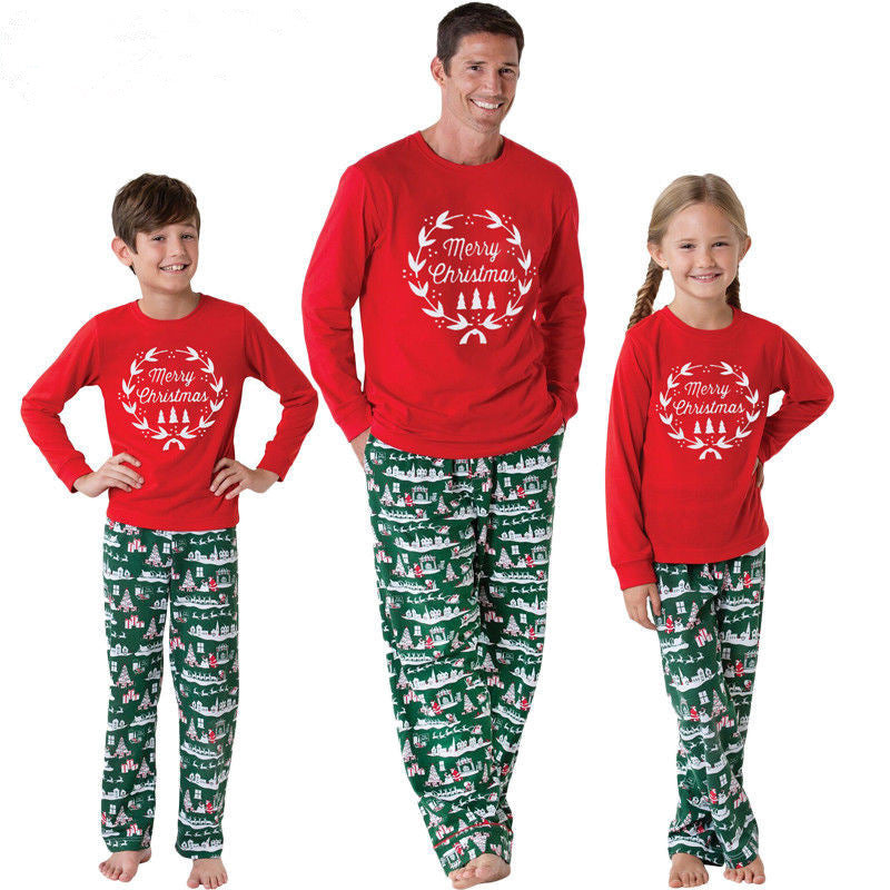 2020 Christmas Pajamas For Family  Matching Red Pajamas Set for Women Men Girls Boys