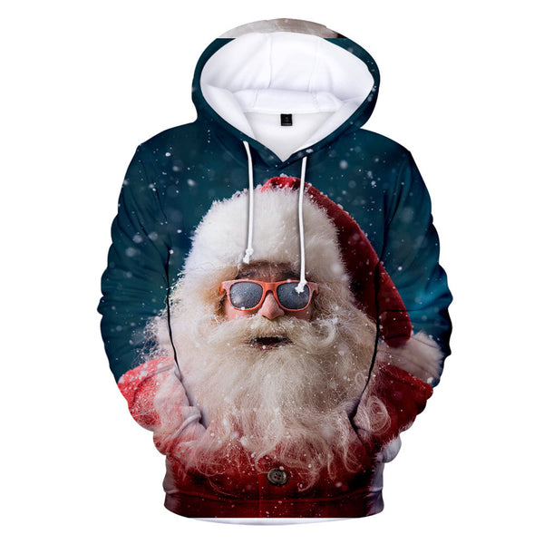 2020 Christmas Hoodie Warm Winter 3D Hooded Sweatshirt