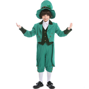 Saint Patrick's Day Costume Elf Halloween Cosplay Costume For Boys