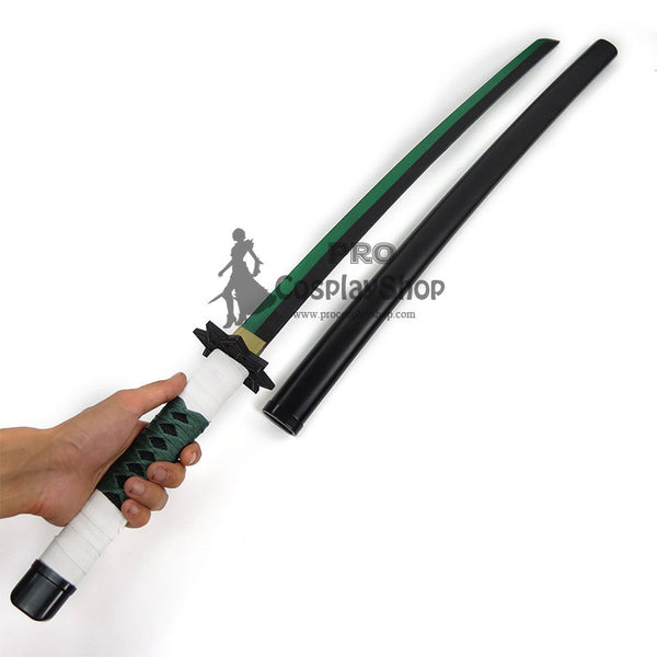 Anime Demon Slayer / Kimetsu no Yaiba Sanemi Shinazugawa Cosplay Props Wood Sword Deluxe Version