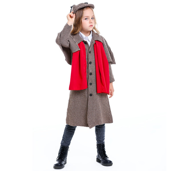 Sherlock Holmes Kids Boys Girls Halloween Costume