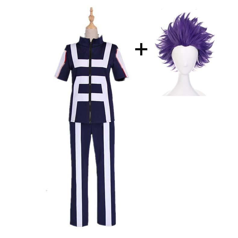 Boku No Hero / My Hero Academia Shinso Hitoshi Training/Gym Suit Cosplay Costumes With Wigs Unisex