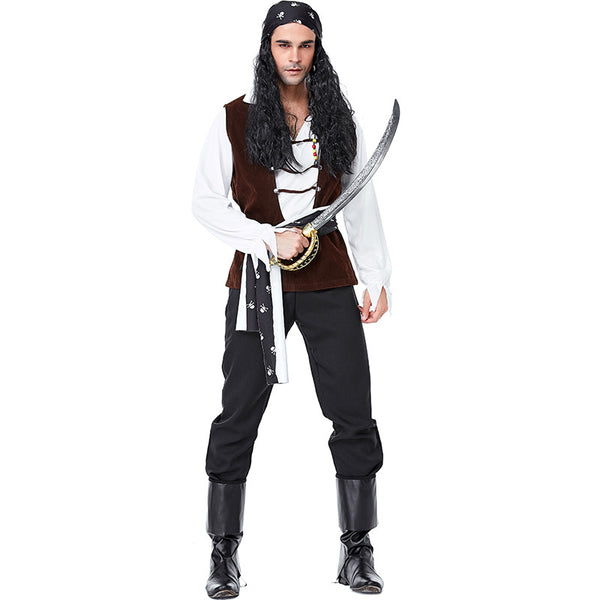 Skeleton Sign Wild Crew Pirate Costume Halloween/Stage Performance/Party