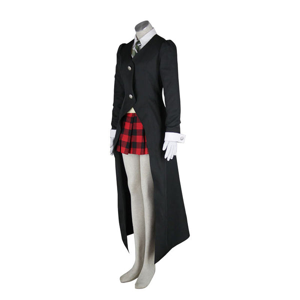 Soul Eater Maka Albarn Cosplay Costume Top+Vest+Tie+Skirt+Coat+Gloves
