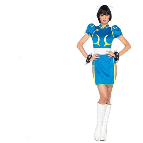Street Fighter Chun Li Cosplay Costume Halloween / Party Costume