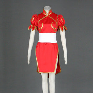 Street Fighter V Chun Li Cosplay Costume Red
