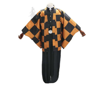 Anime Demon Slayer/Kimetsu No Yaiba Tanjuro Kamado Tanjiro Kamado's Father Cospaly Costume Full Set