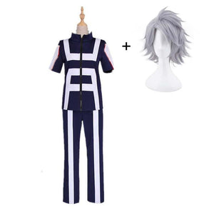Boku No Hero / My Hero Academia Tetsutetsu Tetsutetsu Training/Gym Suit Cosplay Costumes With Wigs Unisex
