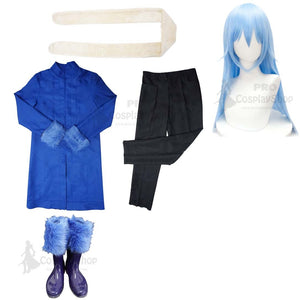 That Time I Got Reincarnated as A Slime Tensei Shitara Suraimu Datta Ken Rimuru Cosplay Costume Full Set With Boots and Wigs