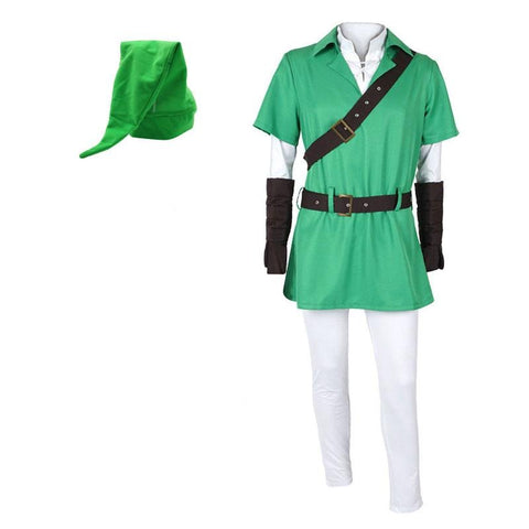 The Legend of Zelda Zeruda No Densetsu Link Cosplay Costume(Green)