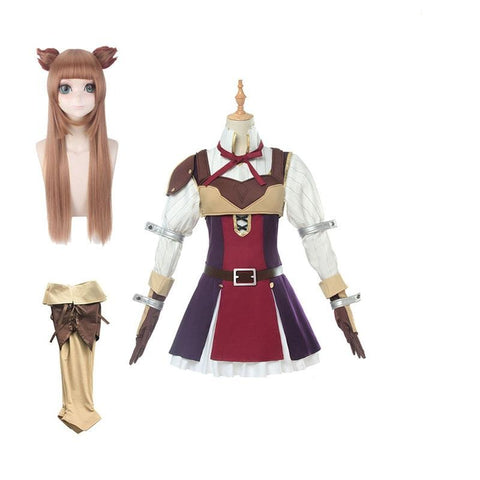 The Rising of the Shield Hero Raphtalia Cosplay Costume Full Sets With Wigs