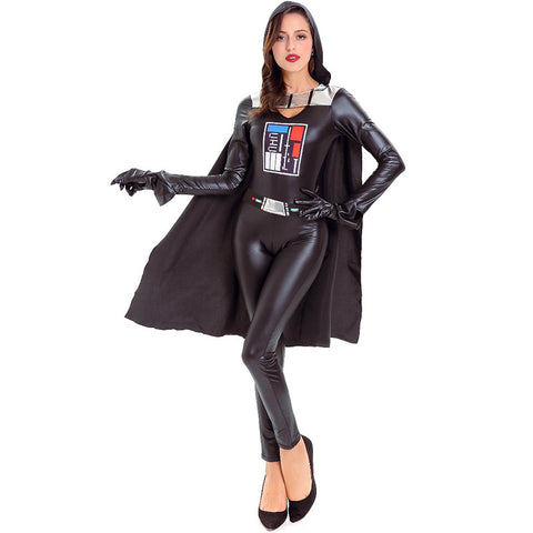 Unisex Black  Warrior Cosplay Costume For Halloween Party Performance
