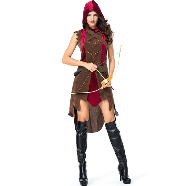 Women Archer Warrior Cosplay Costume For Halloween Party Performance