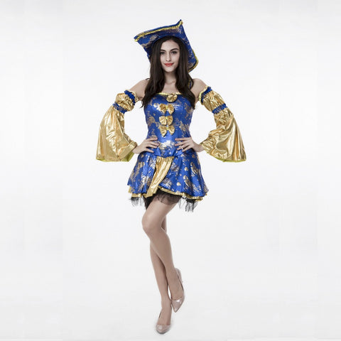Women Deluxe Royal Queen Pirate Costume Halloween/Stage Performance/Party Women