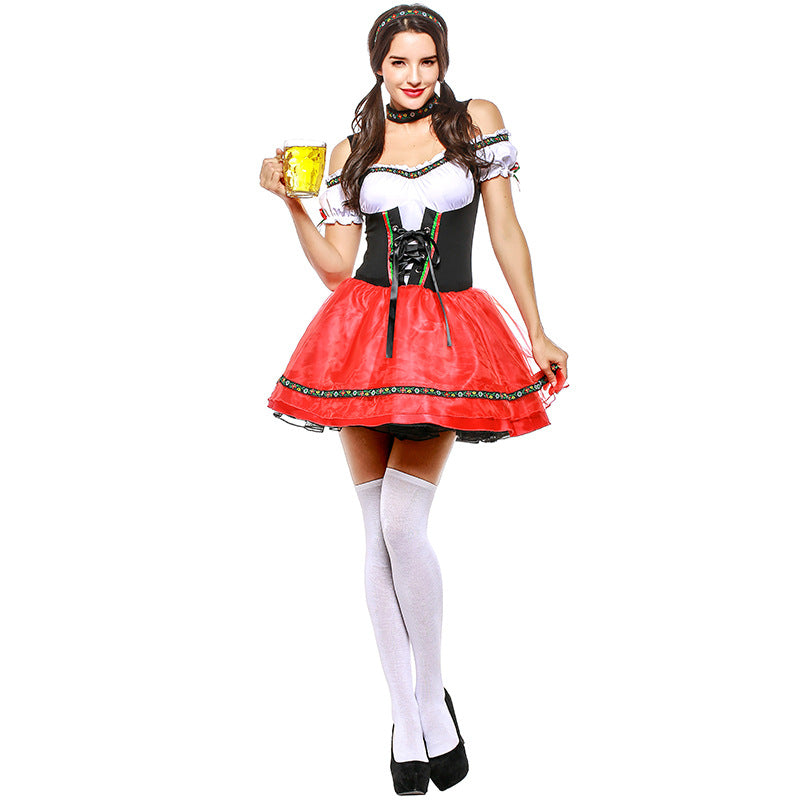 Women German Bavarian Oktoberfest Drindl Sexy Dress Costume