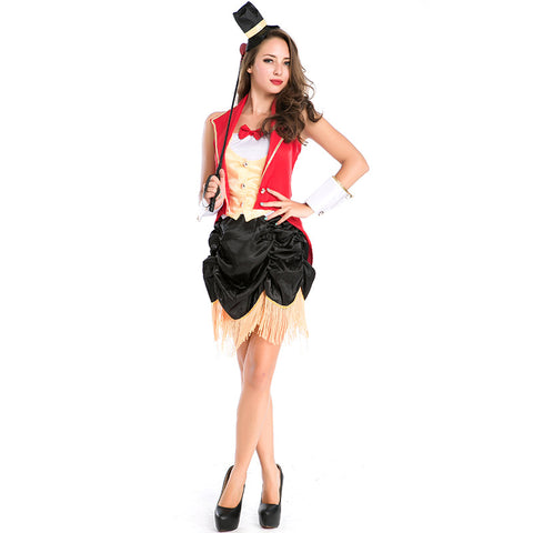 Women Magician Uniform Cosplay Costume Suit For Halloween Party Performance