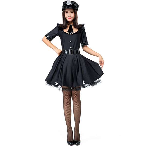 Women Police Officer Fancy Dress Costume