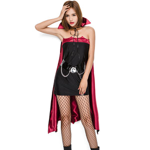 Women Sexy Vampire Cosplay Costume Dress For Halloween Party Performance
