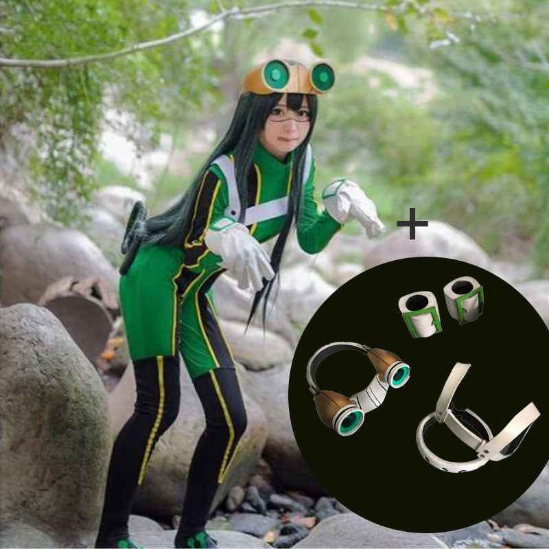 My Hero Academia Froppy Tsuyu Asui Fighting Suit Cosplay Costume With Props Deluxe Version